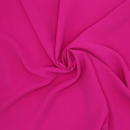Fabric in polyester type crêpe - fuchsia