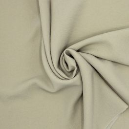 Fabric in polyester type crêpe - beige