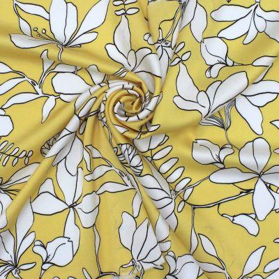 Tissu en satin gaufré imprimé floral