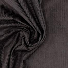 Tissu en coton côtelé brun