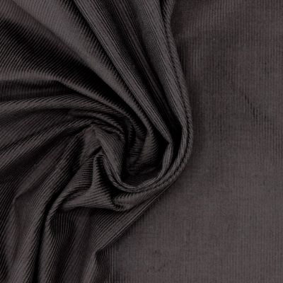 Stof in geribbeld katoen - bruin