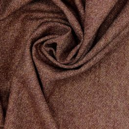 Tissu en laine rouille et beige