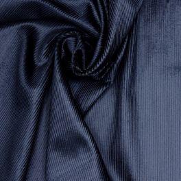 Tissu en velours côtelé brillant marine