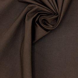 Tissu coton sergé bi-stretch brun