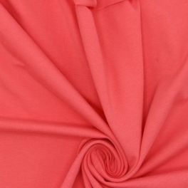 jersey fabric - plain coral