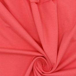 Tissu jersey uni corail