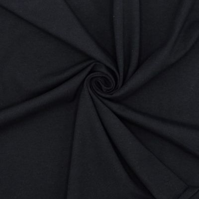jersey fabric - plain black