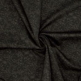 Tissu extensible fleuri cuivré sur fond noir
