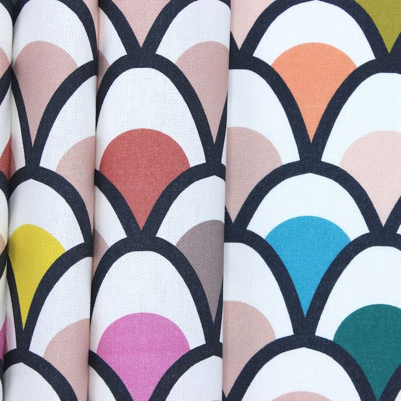 Cotton fabric with digital prints