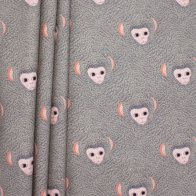 Cotton fabric with prints of animals