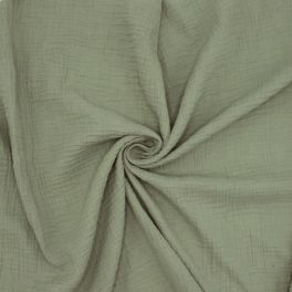 Double cotton gauze - khaki