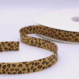leather ribbon panther - gold