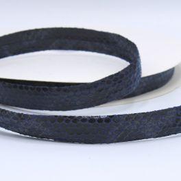 leather ribbon snake - denim blue