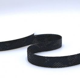 leather ribbon snake - black