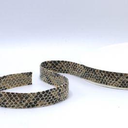 Ruban cuir serpent sable