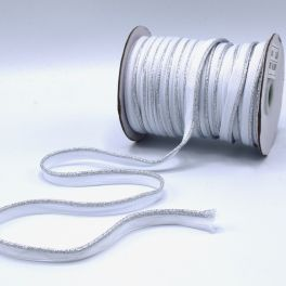 Lurex piping cord - white