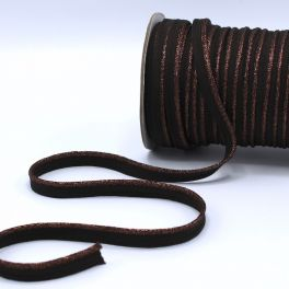 Lurex piping cord - chocolate brown