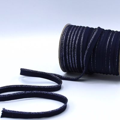Lurex piping cord - navy blue
