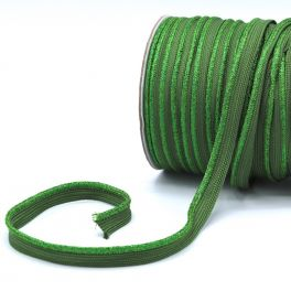 Lurex piping cord - green