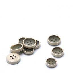 Mini button - beige