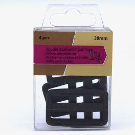 Boucles coulissantes plastique noir