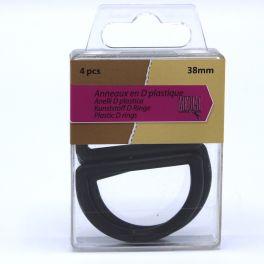 Plastic semi-round loop - black
