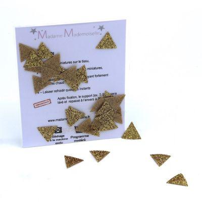 Mini opstrijkbare gouden driehoeken