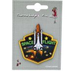Iron-on patch rocket