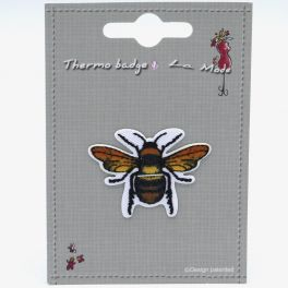 Iron-on patch bee
