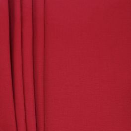 Brushed cotton - cherry red