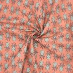 Printed cotton with octopus