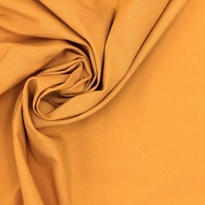Tissu 100% coton uni safran