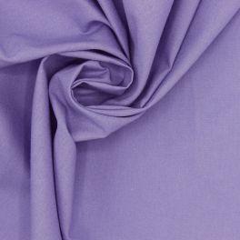 Tissu 100% coton uni mauve