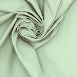 Tissu 100% coton uni vert eau