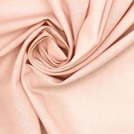 Tissu 100% coton uni rose pastel