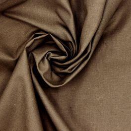 Tissu 100% coton uni taupe