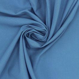 Tissu 100% coton uni bleu azur