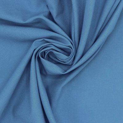 100% cotton - plain azure blue