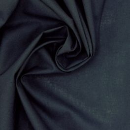 Tissu 100% coton uni bleu nuit
