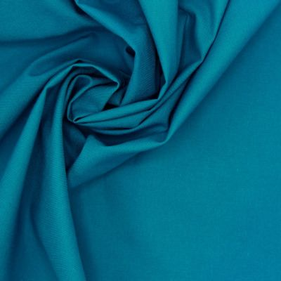 100% cotton - plain petroleum blue