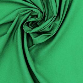 Tissu 100% coton uni vert praire