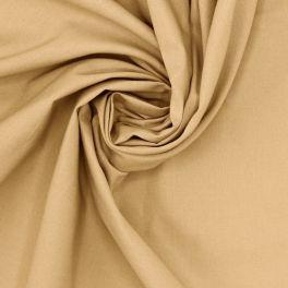 Tissu 100% coton uni beige