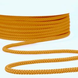 Gold yellow knitted rope