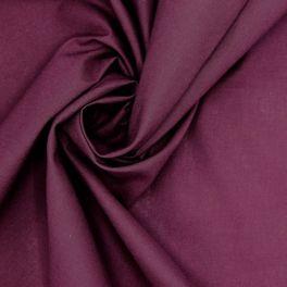 Tissu 100% coton uni raisin