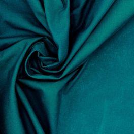 Tissu 100% coton uni paon