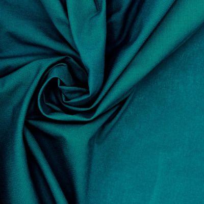 100% katoen - effen pauwblauw