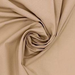 Tissu 100% coton uni beige nougat