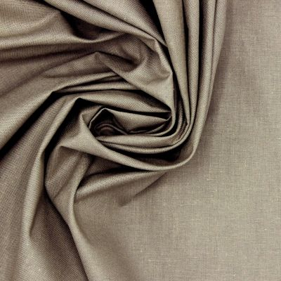 Tissu 100% coton uni gris souris