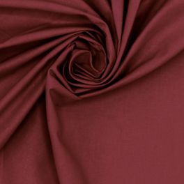 100% cotton - plain wine red