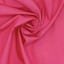 Tissu 100% coton uni fushia